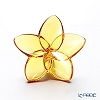 Baccarat 'Bloom Collection - Fleur' Amber Yellow 2813014 Flower Object H6.5cm