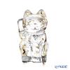 Baccarat 'Faunacrystopolis - Maneki Neko' Gold 2814453 [LE 3000pcs] Lucky Cat Figurine H9.5cm