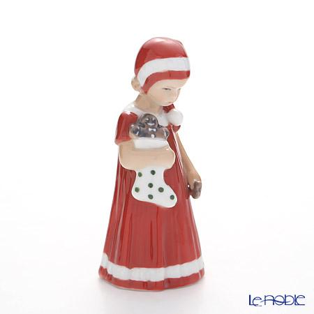 ロイヤルコペンハーゲン(Royal Copenhagen) フィギュリン(エルザとクリスマス) 赤い服のエルス(靴下) 13cm 5021092