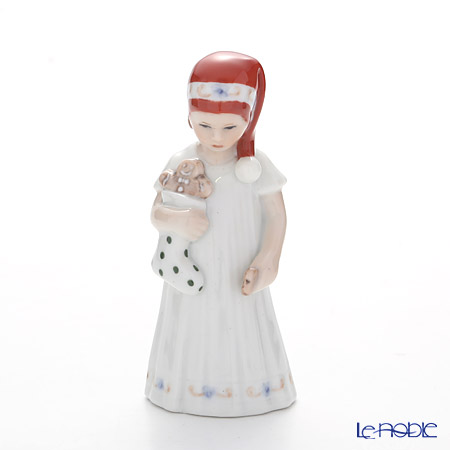 ロイヤルコペンハーゲン(Royal Copenhagen) フィギュリン(エルザとクリスマス) 白い服のエルス(靴下) 13cm 5021093