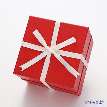 ギフトボックス 赤・オールドファッション用 12.6×12.6×11cm 【リボン掛け付】