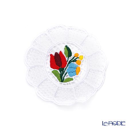 カロチャ刺繍 Hungary Martaコースター 10cm カラフル