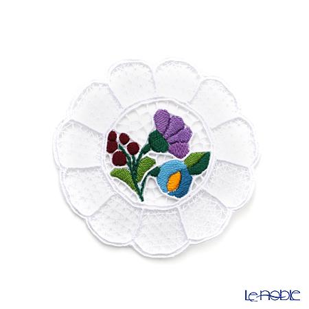 カロチャ刺繍 Hungary Martaコースター ブルー系