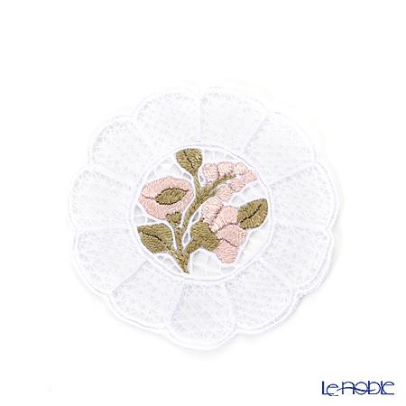 カロチャ刺繍 Hungary Martaコースター ピンク