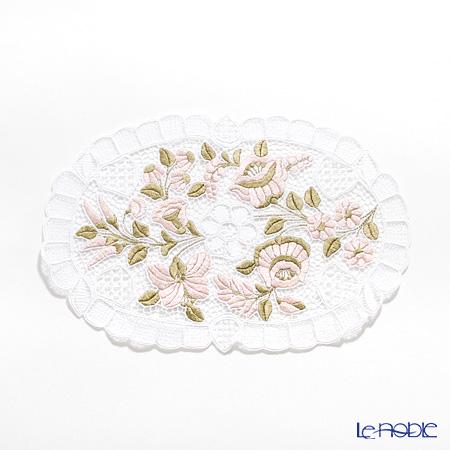 カロチャ刺繍 Hungary Martaテーブルセンター 25×40cm ピンク