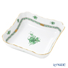 Herend 'Chinese Bouquet Green / Apponyi' AV 00182-0-00 Square Salad Bowl 27x21cm