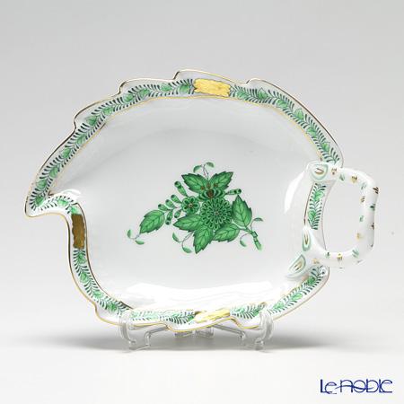 ヘレンド アポニーグリーン 00205-0-00/205 リーフディッシュ 15cm