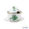 Herend 'Chinese Bouquet Green / Apponyi' AV 00377-7-09 Jam Pot (Rose knob) 240ml