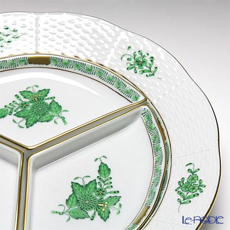 ヘレンド アポニーグリーン 00441-0-00/443オードブルセット 25cm