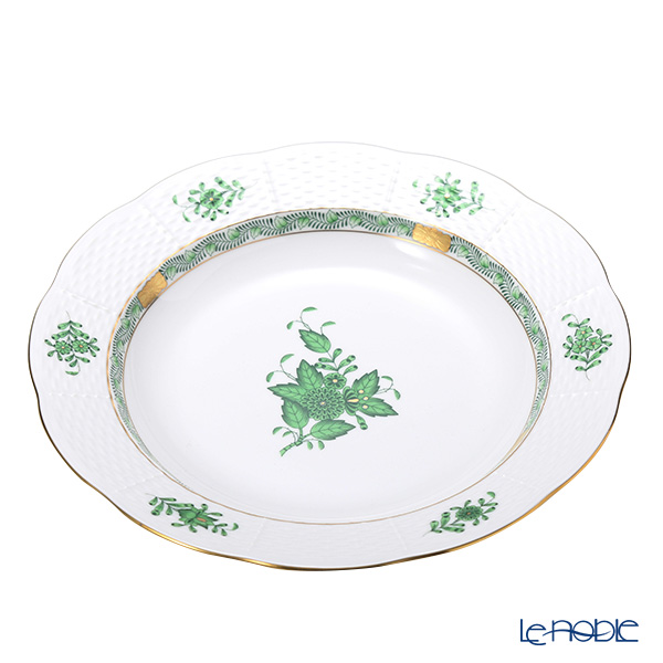 Herend 'Chinese Bouquet Green / Apponyi' AV 00503-0-00 Soup Plate 24.3cm