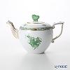 Herend A green AV 00606-0-17 Teapot (CHOW) 800 cc
