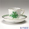 ヘレンド アポニーグリーン 00707-0-00/707モカカップ&ソーサー 150cc