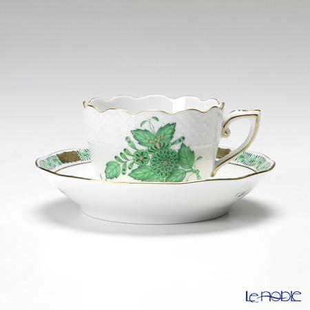 ヘレンド アポニーグリーン 00711-0-00/711モカカップ&ソーサー 100cc