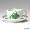 ヘレンド アポニーグリーン 00724-0-00/724ティーカップ&ソーサー 200cc