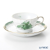Herend 'Chinese Bouquet Green / Apponyi' AV 01712-0-00 Tea Cup & Saucer 150ml