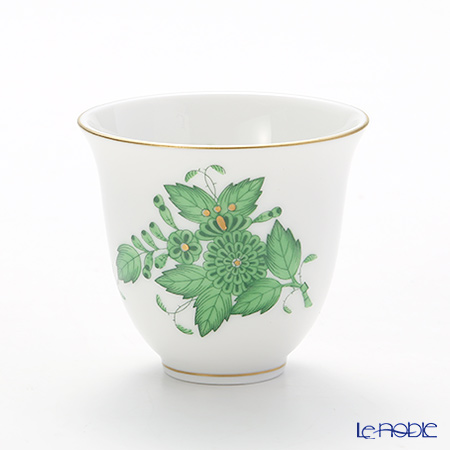 Herend 'Chinese Bouquet Green / Apponyi' AV 02784-0-00 Sake Cup
