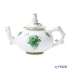 Herend 'Chinese Bouquet Green / Apponyi' AV 03305-0-21 Mini Tea Pot (Mandarin / openwork) 350ml