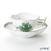 Herend 'Chinese Bouquet Green / Apponyi' AV 04196-0-00 Tea Cup & Saucer (Clover shape) 140ml