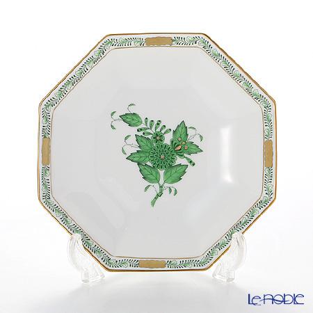 Herend Apponyi / Chinese Bouquet - Vert Octagonal Small Plate 13.5 cm, AV 04304-1-00