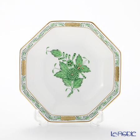 Herend Apponyi / Chinese Bouquet - Vert Octagonal Small Plate 11 cm, AV 04307-1-00