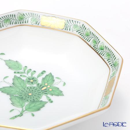 ヘレンド アポニーグリーン 04307-1-00小皿(オクタゴナル) 11cm
