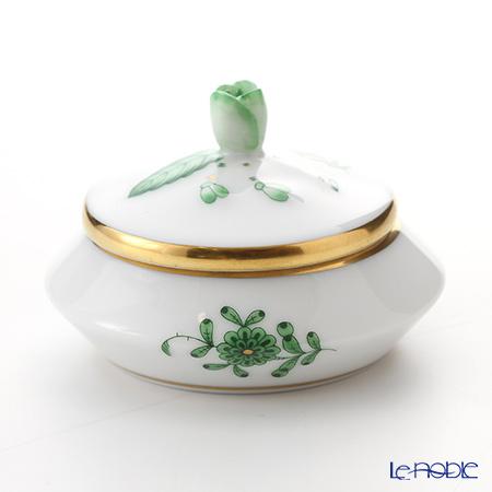 Herend A green AV 06027-0-12 / 6027 Round box (tsbomi)-6.5 cm