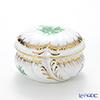 Herend 'Chinese Bouquet Green / Apponyi' AV 06035-0-00 Round Box 12.5xH8cm