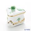 Herend 'Chinese Bouquet Green / Apponyi' AV 06079-0-09 Triangle Bononniere (Rose knob) 7.8xH7.7cm