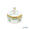 Herend 'Chinese Bouquet Green / Apponyi' AV 06104-0-21 Octagonal Box (Mandarin knob)