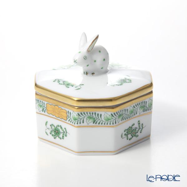 ヘレンド アポニーグリーン 06104-0-25 オクタゴナルボックス(ウサギ)