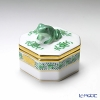 Herend 'Chinese Bouquet Green / Apponyi' AV 06105-0-39 Octagonal shape Bononniere (Frog) 5xH4.5cm