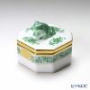 ヘレンド アポニーグリーン 06105-0-39オクタゴナルボックス(カエル)