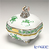 Herend 'Chinese Bouquet Green / Apponyi' AV 06179-0-70 Footed Square shape Bononniere (Elephant) 7xH7.5cm