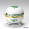 Herend 'Chinese Bouquet Green / Apponyi' AV 06183-0-00 Footed Round Box 8xH7cm