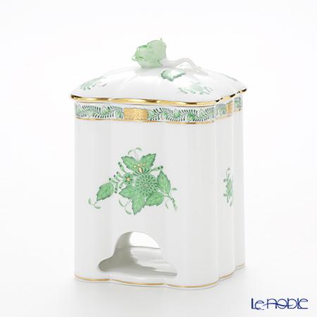 Herend Chinese Bouquet Green / Apponyi Vert AV 06378-0-09 Tea Bag Holder (Rose) H14cm