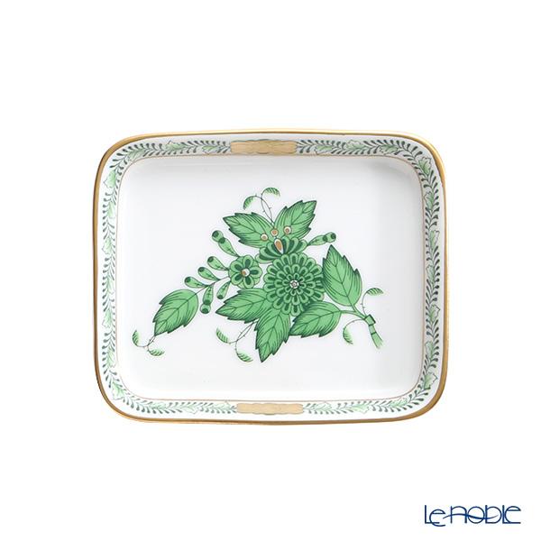 Herend 'Chinese Bouquet Green / Apponyi' AV 07733-0-00 Oblong Dish 8.3x7cm