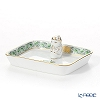 Herend 'Chinese Bouquet Green / Apponyi' AV 07733-021 Rectangular Tray with Mandarin 8x6.7cm