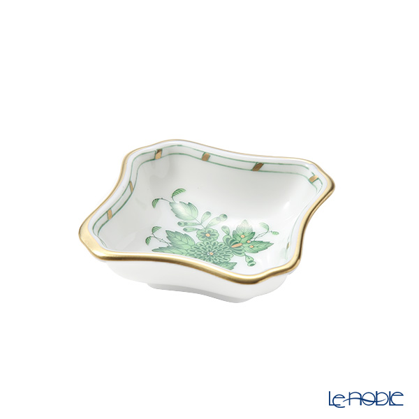 Herend 'Chinese Bouquet Green / Apponyi' AV 07734-0-00 Mini Ashtray 5.5cm