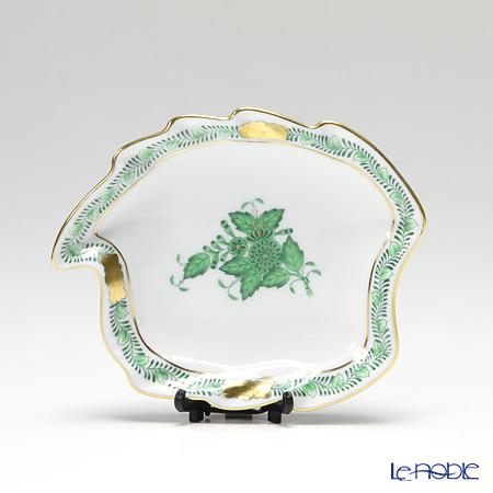 Herend Chinese Bouquet Green / Apponyi Vert AV 07774-0-00 Leaf Ashtray 12cm