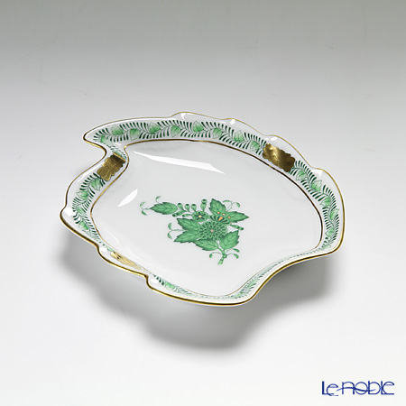 Herend 'Chinese Bouquet Green / Apponyi' AV 07774-0-00 Leaf Ashtray 12cm