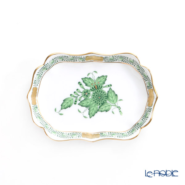 Herend 'Chinese Bouquet Green / Apponyi' AV 07798-0-00 Oval Dish 11.3x7.8cm