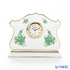 Herend 'Chinese Bouquet Green / Apponyi' AV 08068-0-00 Desk Clock H11.7cm