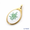 Herend 'Chinese Bouquet Green / Apponyi' AV 08136-0-00 Oval Pendant Top