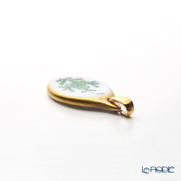 Herend Chinese Bouquet Green / Apponyi Vert AV 08139-0-00 Pendant Top 2.8cm