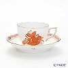 Herend Chinese Bouquet Orange / Apponyi AOG 00711-0-00/711 Mocha Cup & Saucer 100ml