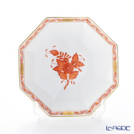 ヘレンド アポニーオレンジ 04304-1-00 小皿(オクタゴナル) 13.5cm