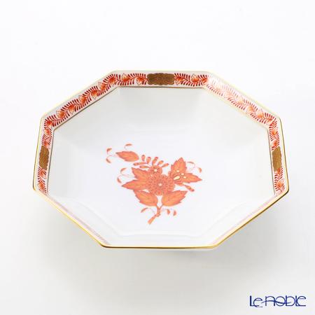 ヘレンド アポニーオレンジ 04304-1-00小皿(オクタゴナル) 13.5cm