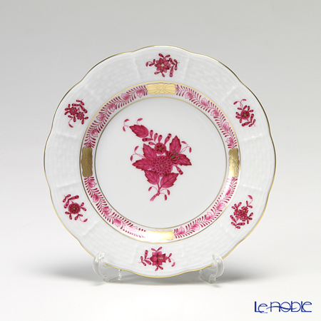 Herend Apponyi / Chinese Bouquet - Pourple Bread and butter plate, AP 00512-0-00