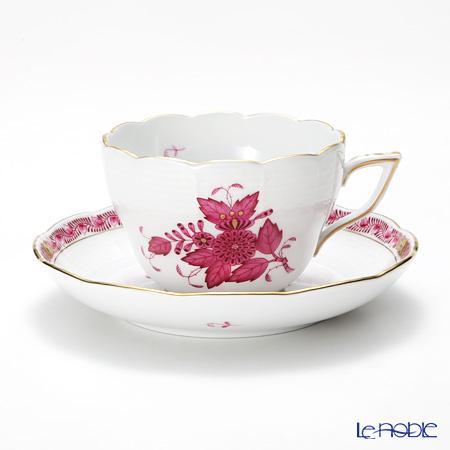 ヘレンド アポニーピンク 00730-0-00/730 ティーカップ&ソーサー(兼用) 200cc
