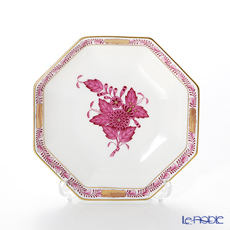 ヘレンド アポニーピンク 04307-0-00 小皿(オクタゴナル) 11cm